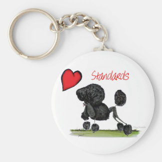 we luv standard poodles from Tony Fernandes Keychain