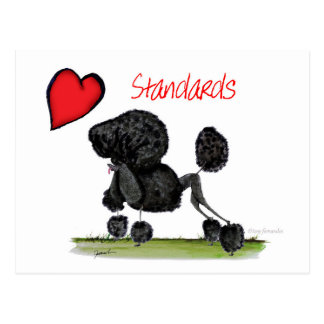 we luv standard poodles from Tony Fernandes Postcard