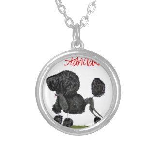 we luv standard poodles from Tony Fernandes Silver Plated Necklace