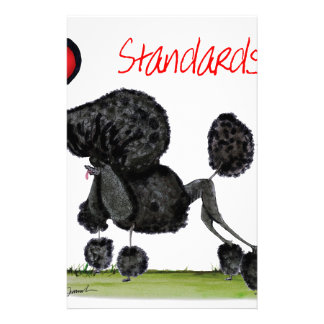 we luv standard poodles from Tony Fernandes Stationery Design