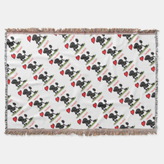 we luv standard poodles from Tony Fernandes Throw Blanket