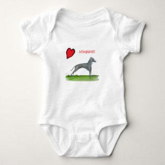 we luv weimaraners from Tony Fernandes Baby Bodysuit