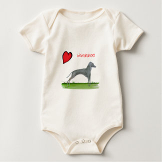 we luv weimaraners from Tony Fernandes Baby Bodysuit