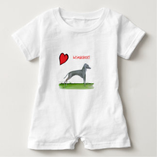 we luv weimaraners from Tony Fernandes Baby Romper