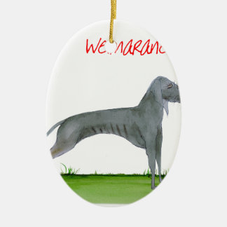 we luv weimaraners from Tony Fernandes Ceramic Ornament