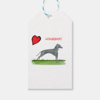 we luv weimaraners from Tony Fernandes Gift Tags