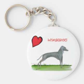 we luv weimaraners from Tony Fernandes Keychain