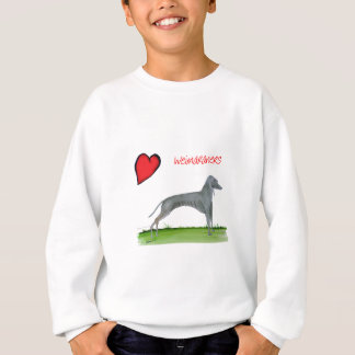 we luv weimaraners from Tony Fernandes Sweatshirt