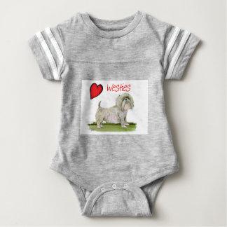we luv westies from Tony Fernandes Baby Bodysuit