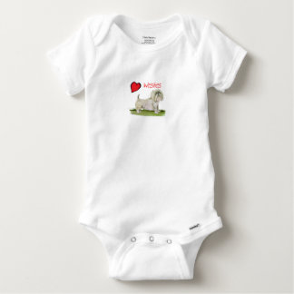 we luv westies from Tony Fernandes Baby Onesie