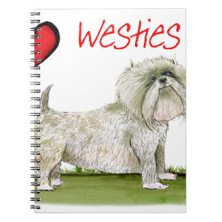 we luv westies from Tony Fernandes Spiral Notebook