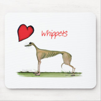we luv whippets from Tony Fernandes Mouse Pad