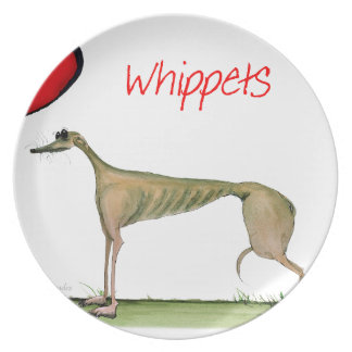 we luv whippets from Tony Fernandes Plate