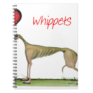 we luv whippets from Tony Fernandes Spiral Notebook