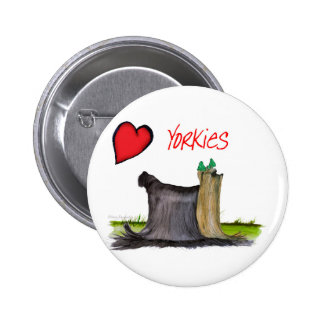 we luv yorkies from Tony Fernandes 2 Inch Round Button