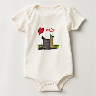 we luv yorkies from Tony Fernandes Baby Bodysuit