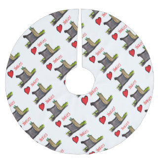 we luv yorkies from Tony Fernandes Brushed Polyester Tree Skirt
