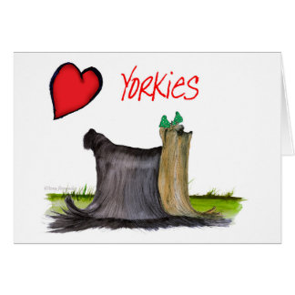 we luv yorkies from Tony Fernandes Card