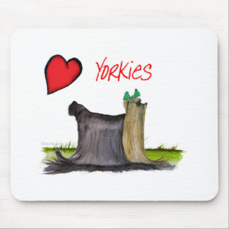 we luv yorkies from Tony Fernandes Mouse Pad