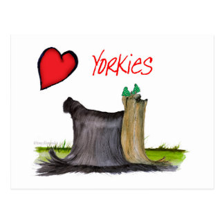 we luv yorkies from Tony Fernandes Postcard