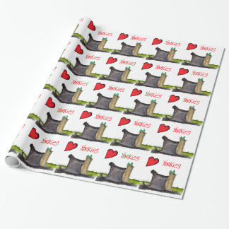 we luv yorkies from Tony Fernandes Wrapping Paper