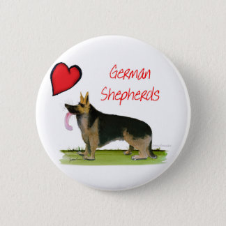 we luve german shepherds from Tony Fernandes 2 Inch Round Button
