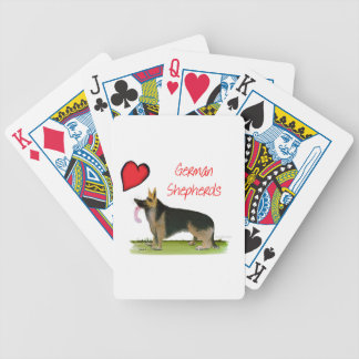we luve german shepherds from Tony Fernandes Bicycle Playing Cards