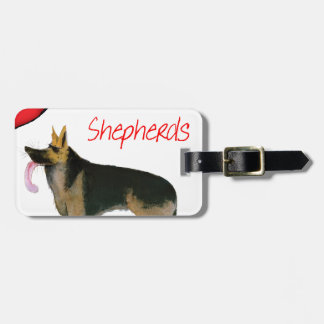 we luve german shepherds from Tony Fernandes Luggage Tag