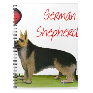 we luve german shepherds from Tony Fernandes Note Books