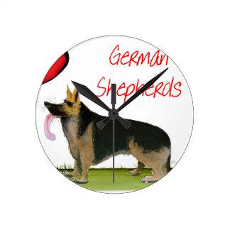 we luve german shepherds from Tony Fernandes Round Clock