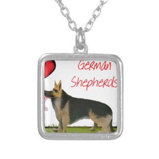 we luve german shepherds from Tony Fernandes Silver Plated Necklace