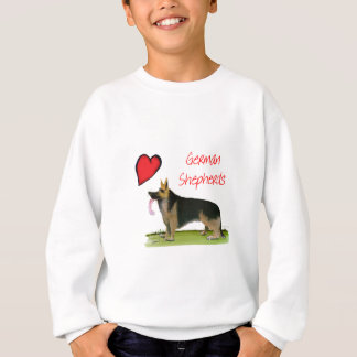 we luve german shepherds from Tony Fernandes Sweatshirt