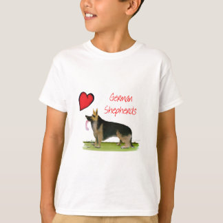 we luve german shepherds from Tony Fernandes T-Shirt