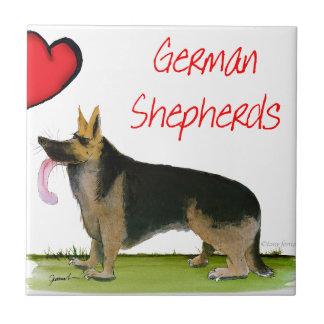 we luve german shepherds from Tony Fernandes Tile
