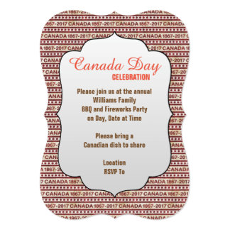 We Made It Canada Day Party Invitation
