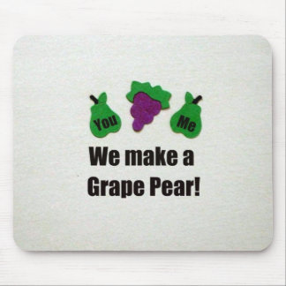 We make a grape pear! mouse pad