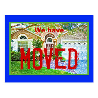 We moved 4 postcard