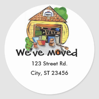 We Moved sticker large