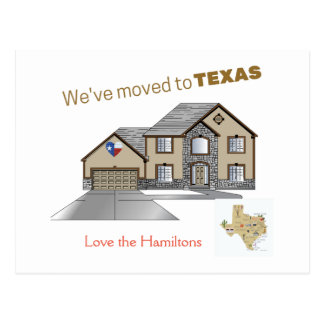 We Moved to Texas Postcard