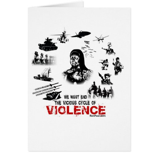 We Must End the Vicious Cycle of Violence! Cards