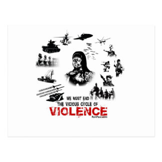 We Must End the Vicious Cycle of Violence Postcard