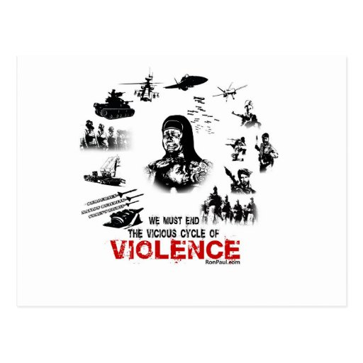 We Must End the Vicious Cycle of Violence! Postcard