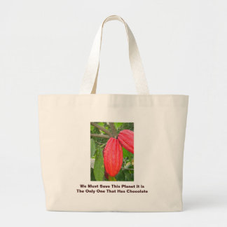 We Must Save This Planet it ... Large Tote Bag