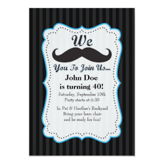 We Mustache You To Join Us Birthday Invitation! Card