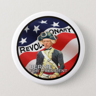 """We need a political revolution"" 3 Inch Round Button"