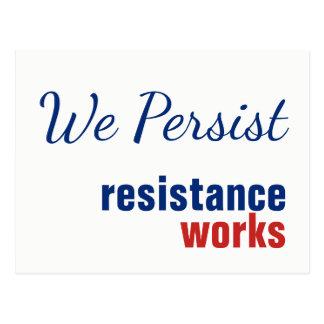 We Persist Resistance Works Postcard