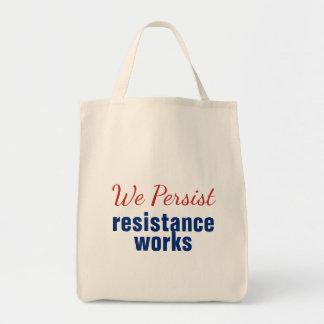 We Persist Resistance Works Red Blue Tote Bag