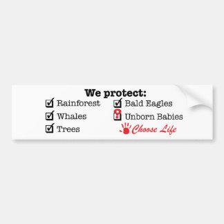We Protect? Bumper Sticker