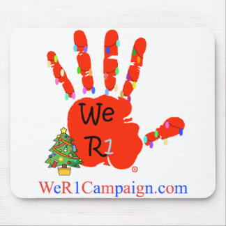 We R1 Christmas Hand Mouse Pad