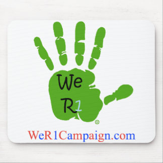 We R1 Green Hand Mouse Pad